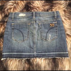 New Joe's Jeans distressed denim jean mini skirt